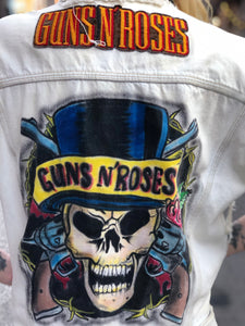 Vintage 80s 90s Guns N Roses Painted Denim Vest | Jackets - 80s 90s Retro Vintage Clothing | Spark Pretty