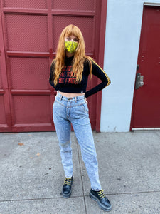 Vintage 80's Rifle Wash Tapered Mom Jeans