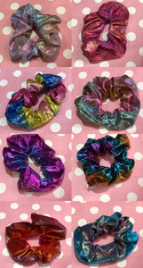 Rainbow Hologram Scrunchie | Scrunchies - 80s 90s Retro Vintage Clothing | Spark Pretty