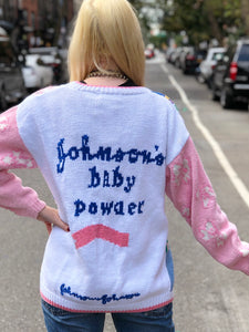 Vintage 80s Baby Powder Sweater | Sweaters - 80s 90s Retro Vintage Clothing | Spark Pretty