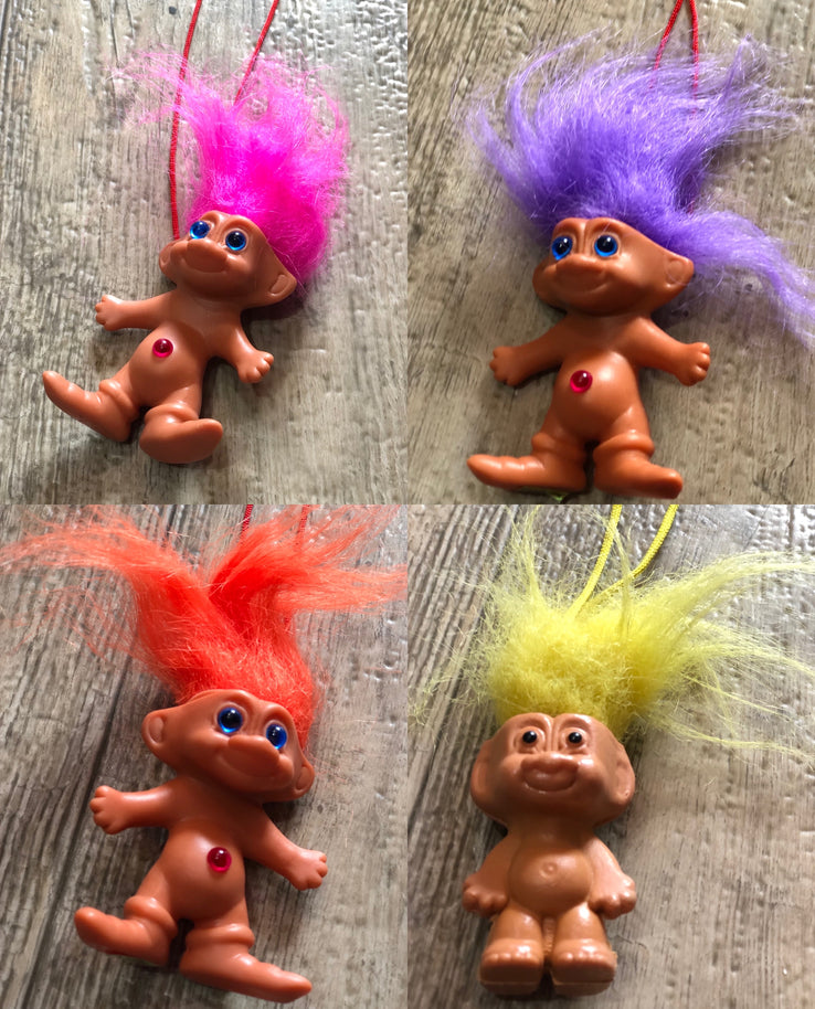 Vintage 80s Troll Doll Necklace | Necklaces - 80s 90s Retro Vintage Clothing | Spark Pretty