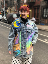Vintage 80s Painted Jukebox Jean Jacket | Jackets - 80s 90s Retro Vintage Clothing | Spark Pretty