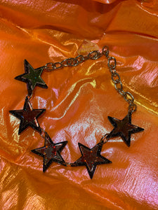 Black Glitter Star Choker by Marina Fini