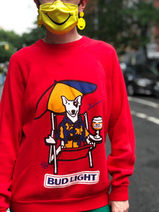 Vintage 1986 Bud Light Sweatshirt | Sweaters - 80s 90s Retro Vintage Clothing | Spark Pretty