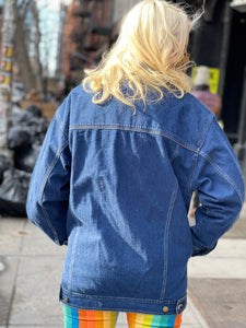 Vintage 80s Dark Wash Jean Jacket
