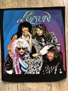 Vintage 80s Poison Back Patch | Patches - 80s 90s Retro Vintage Clothing | Spark Pretty