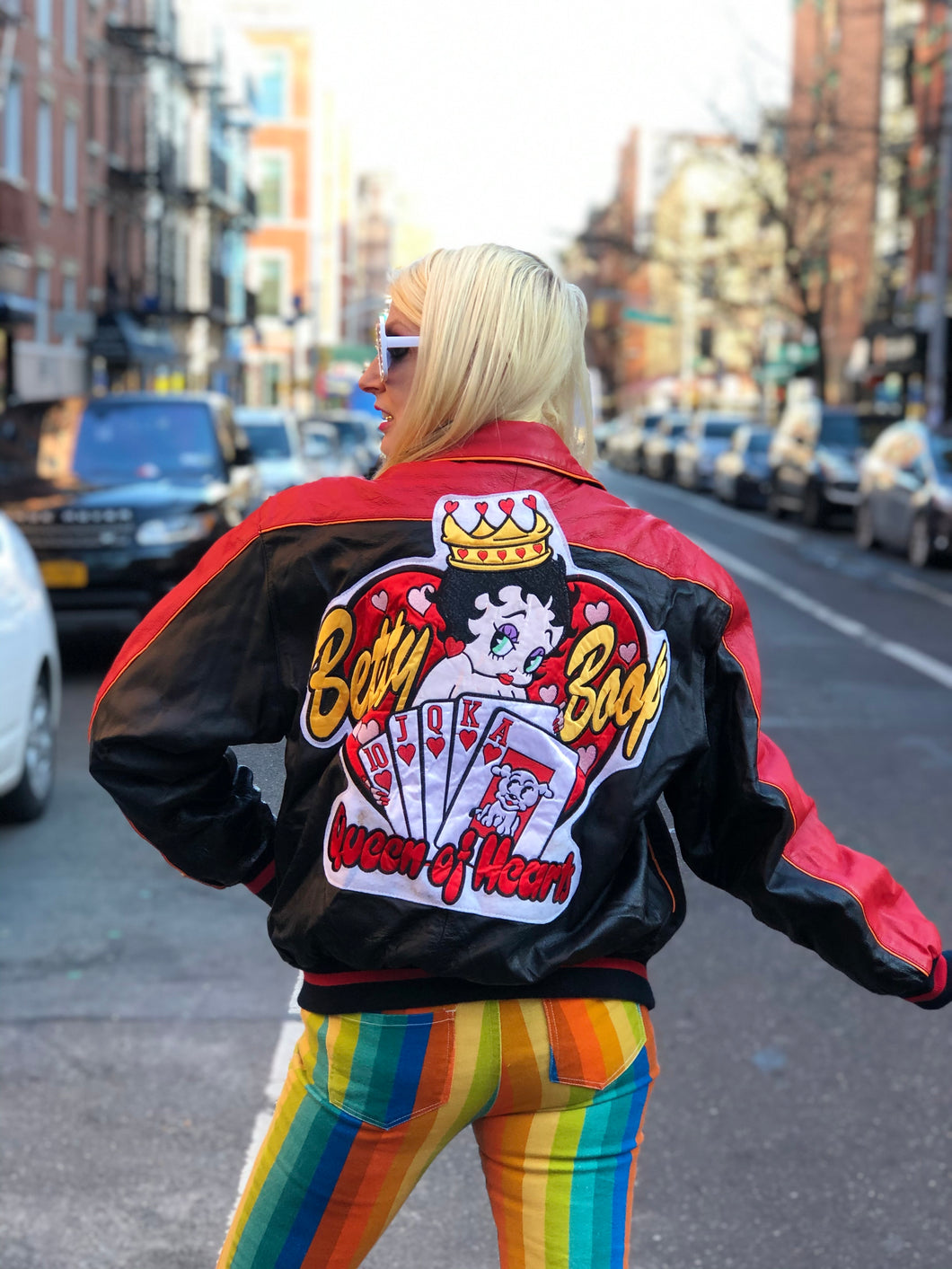 Vintage 80s Leather Betty Boop Bomber Jacket | Jackets - 80s 90s Retro Vintage Clothing | Spark Pretty