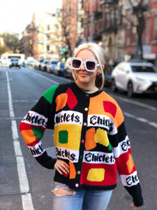 Vintage 80s Knit Chiclets Cardigan - Spark Pretty