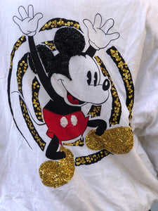 Vintage 90s Mickey Mouse Sequin Bomber Jacket