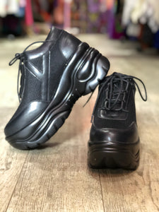 Black Platform Sneaker by YRU | Shoes - 80s 90s Retro Vintage Clothing | Spark Pretty
