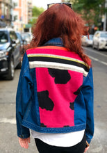 Vintage 90s Patchwork Jean Jacket | Jackets - 80s 90s Retro Vintage Clothing | Spark Pretty