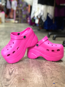 Hot Pink Platform Crocs Size 6 | Shoes - 80s 90s Retro Vintage Clothing | Spark Pretty