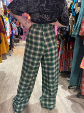 Green Plaid High Waisted Trousers by Daisy Street