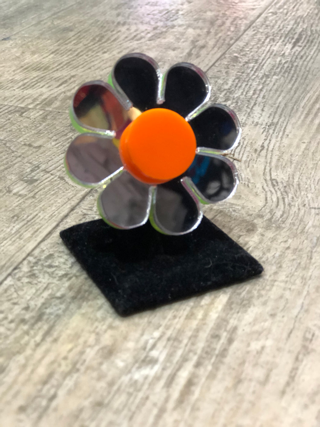 Mirror Flower Ring by Marina Fini | Rings - 80s 90s Retro Vintage Clothing | Spark Pretty