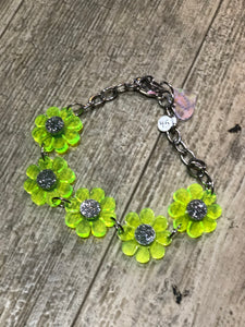 Neon Green Flower Choker by Marina Fini | Necklaces - 80s 90s Retro Vintage Clothing | Spark Pretty