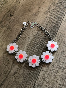 White Flower Power Choker by Marina Fini | Necklaces - 80s 90s Retro Vintage Clothing | Spark Pretty