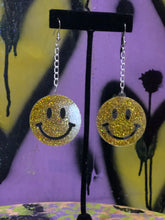 Smiley Face Glitter Earrings by No Basic Bombshell