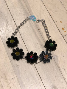 Black Flower Power Choker by Marina Fini | Necklaces - 80s 90s Retro Vintage Clothing | Spark Pretty
