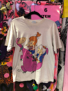 Vintage 90s Flinstones Pebbles and Bam Bam Novelty T-shirt