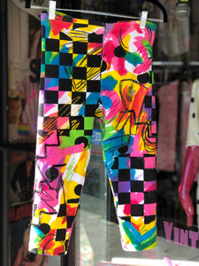 Vintage 90s Colorful Stretchy Bike Shorts | Pants - 80s 90s Retro Vintage Clothing | Spark Pretty