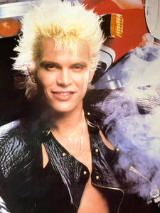 Vintage 80s Billy Idol Poster