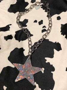Glitter Star Pendant Necklace by Marina Fini | Necklaces - 80s 90s Retro Vintage Clothing | Spark Pretty