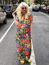 Vintage 80s Floral Maxi Dress Caftan | Dresses - 80s 90s Retro Vintage Clothing | Spark Pretty
