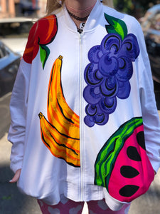 Vintage 80s Fruity Zip Up Jacket | Jackets - 80s 90s Retro Vintage Clothing | Spark Pretty