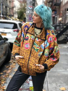 Vintage 90s Patch Print Windbreaker