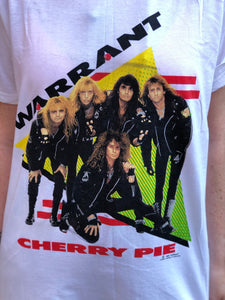 Vintage 1990 Warrant Cherry Pie T-shirt | T Shirt - 80s 90s Retro Vintage Clothing | Spark Pretty