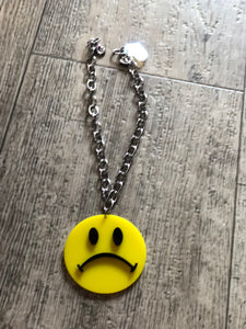 Frowny Face Necklace by Marina Fini | Necklaces - 80s 90s Retro Vintage Clothing | Spark Pretty