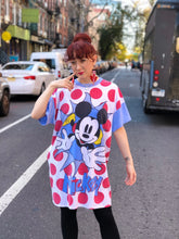 Vintage Mickey Mouse Polka Dot T-shirt Dress | T Shirt - 80s 90s Retro Vintage Clothing | Spark Pretty