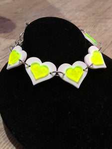 Reversible Heart Choker by Marina Fini | Necklaces - 80s 90s Retro Vintage Clothing | Spark Pretty