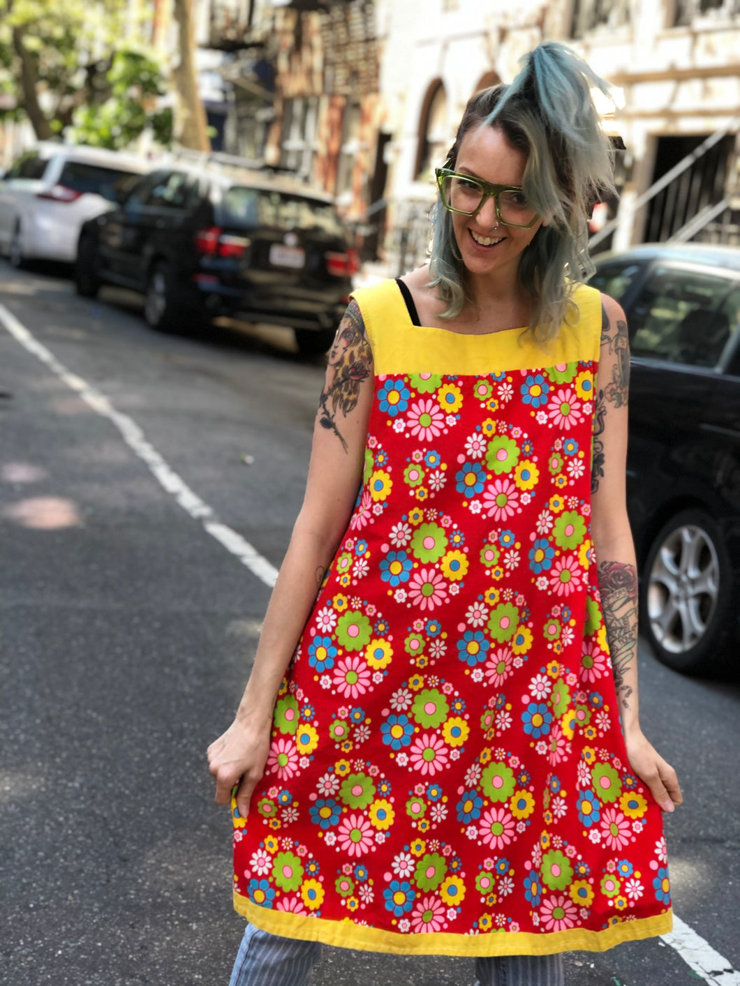 Vintage 60's Psychedelic Floral Midi Dress | Dresses - 80s 90s Retro Vintage Clothing | Spark Pretty