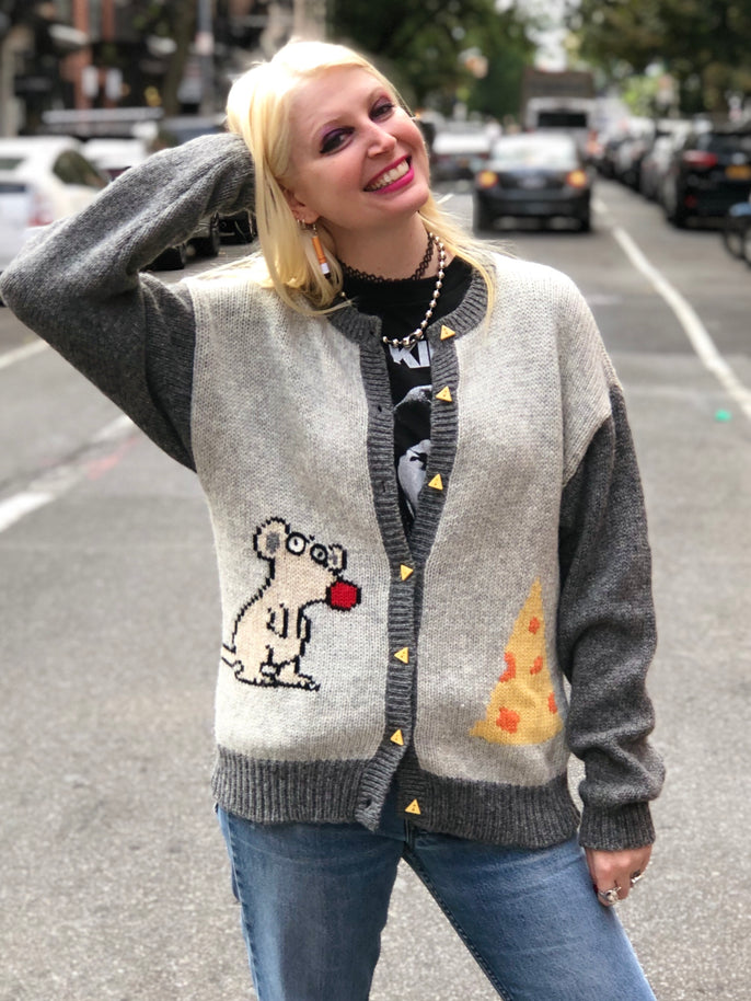 Vintage 80s Mouse Sweater - Spark Pretty