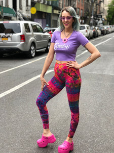 Vintage Y2K Tie Dye Leggings | Pants - 80s 90s Retro Vintage Clothing | Spark Pretty