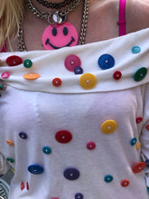 Vintage 80s Colorful Button Blouse - Spark Pretty