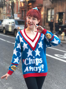 Vintage 90s Chips Ahoy Cookie Sweater | Sweaters - 80s 90s Retro Vintage Clothing | Spark Pretty