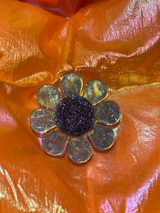 Holo Glitter Flower Ring by Marina Fini