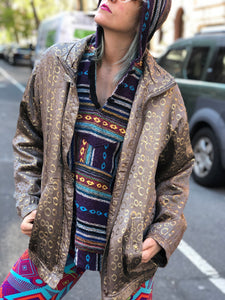 Vintage 90s Metallic Bomber Jacket - Spark Pretty