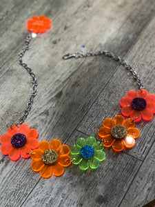 Rainbow Glitter Flower Power Belt by Marina Fini - Spark Pretty