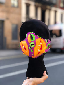 Custom Made Monster Print Face Mask | Mask - 80s 90s Retro Vintage Clothing | Spark Pretty