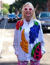 Vintage 80s Fruity Zip Up Jacket - Spark Pretty