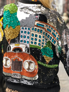 Vintage 80s Sequin Rolls Royce Jacket | Jackets - 80s 90s Retro Vintage Clothing | Spark Pretty