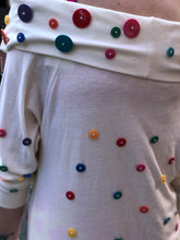 Vintage 80s Colorful Button Blouse | Shirt - 80s 90s Retro Vintage Clothing | Spark Pretty
