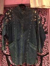 Vintage Acid Wash 80s Denim Bedazzled and Studded Dolman Jacket | Jackets - 80s 90s Retro Vintage Clothing | Spark Pretty
