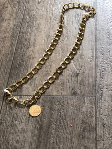 Vintage 80s Gold Chain Coin Belt - Spark Pretty