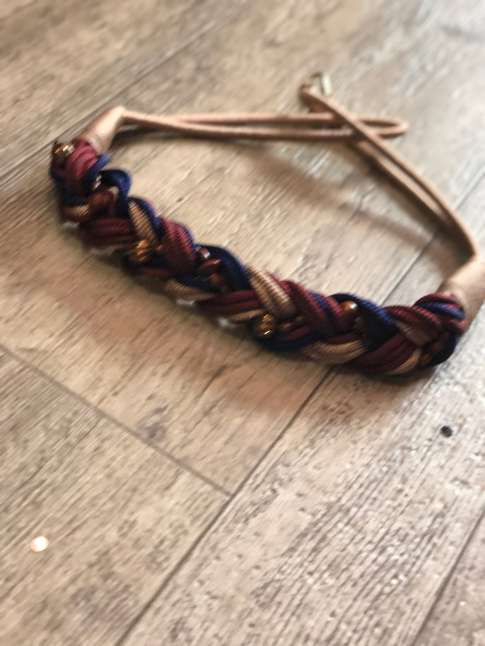 Vintage 80s Woven Rope Style Braided BeadedBelt - Spark Pretty