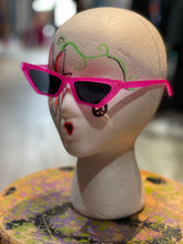 Neon Geometric Cat Eye Sunglasses
