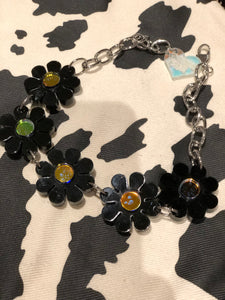 Black Holo Flower Power Choker by Marina Fini | Necklaces - 80s 90s Retro Vintage Clothing | Spark Pretty